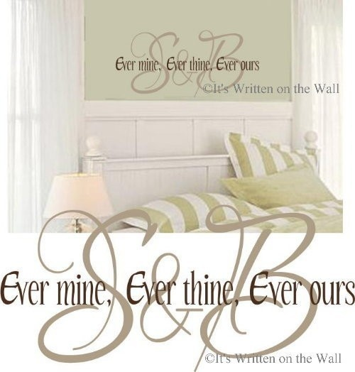 Personalize Inititals Ever Thine Ever Mine by ItsWrittenOnTheWall, $35.99