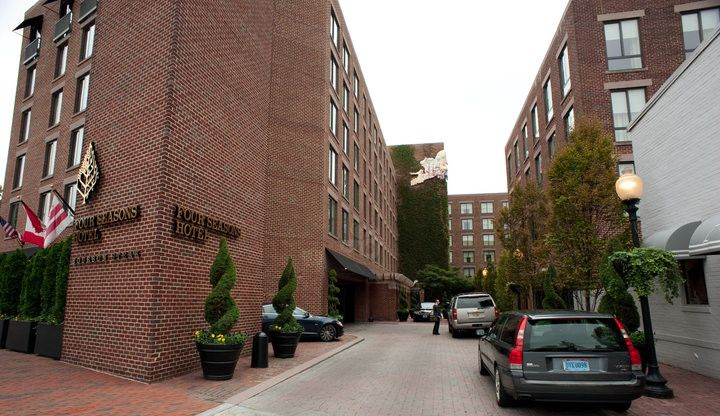 The Four Seasons Hotel Washington DC has long been a favorite hotel for both John and I! The hotel is at the edge of Georgetown, blocks from the Potomac
