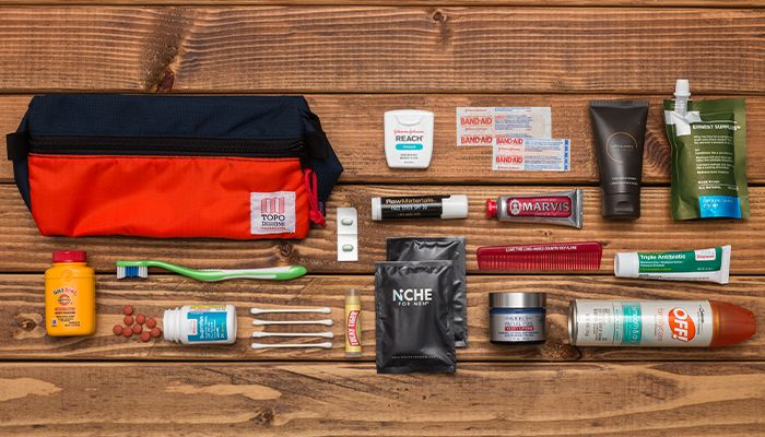 Building a pre-stocked, no-assembly-required dopp kit is the simplest way to cut down on packing time.