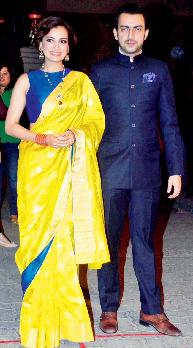 Diya Mirza with Sahil Sangha