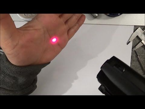Crosman Laser sight test review - Taplic video