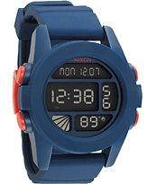 Nixon The Unit Navy Blue & Orange Digital Watch