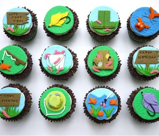 Fishing Cupcakes | #cupcakes #fishing