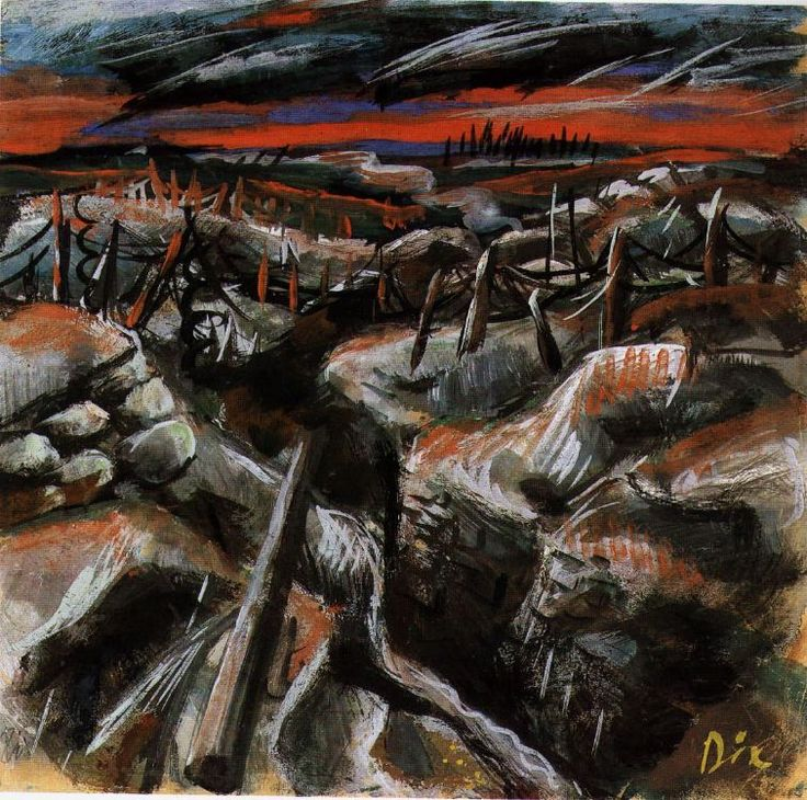 Otto Dix, Trenches, 1917
