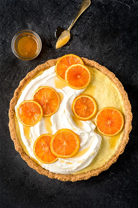 INGREDIENTS BY SAPUTO | For dessert, brunch or an afternoon sweet treat, try our orange, hazelnut and Saputo Ricotta cheese tart recipe. Flavoured with vanilla and served with whipped cream, it's a fresh and light alternative to pie that's sure to impress your guests!
