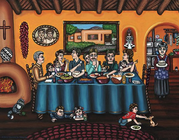 La Familia Or The Family Art Print by Victoria De Almeida.  All prints are professionally printed, packaged, and shipped within 3 - 4 business days. Choose from multiple sizes and hundreds of frame and mat options.