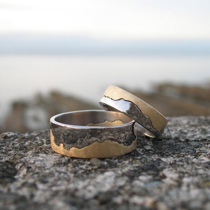coastline wedding band1650 Personali, Men Coastline, Gold Coastline, Coastline Maps, 18Ct Gold, Silver Coastline, Wedding Bands, Maps Rings, Man Rings
