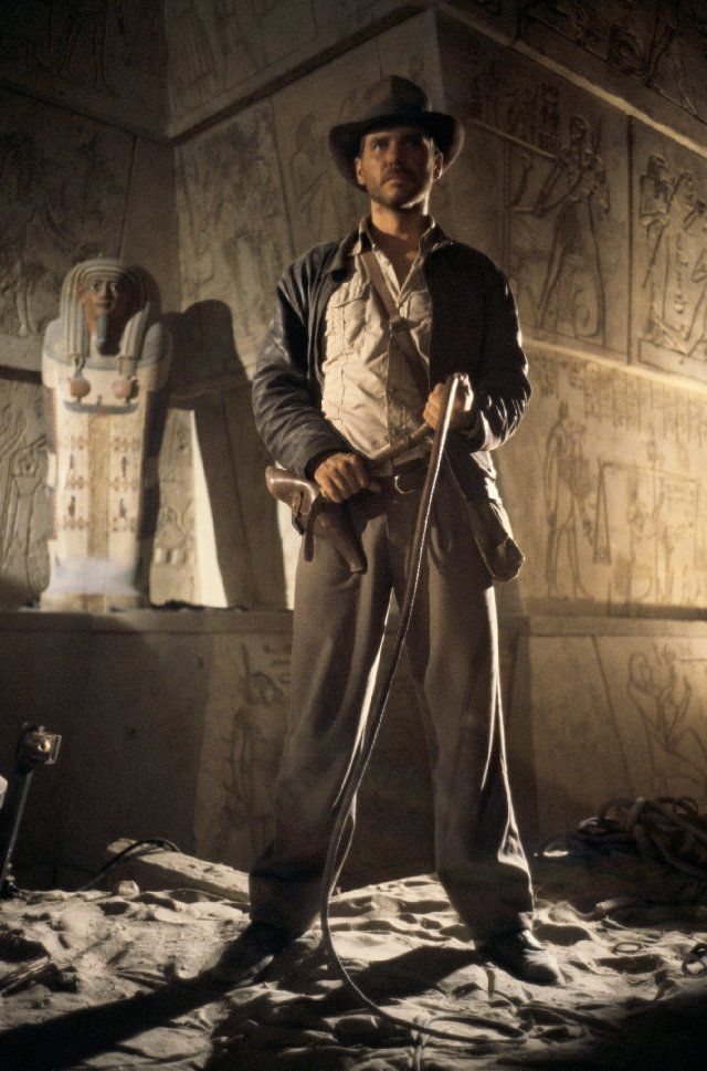 Harrison Ford in Raiders of the Lost Ark -- my favorite of the Indiana Jones series.