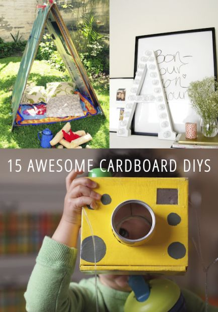 15 Awesome Cardboard DIYs...I'll have lots of empty boxes after the move in two weeks!! :)