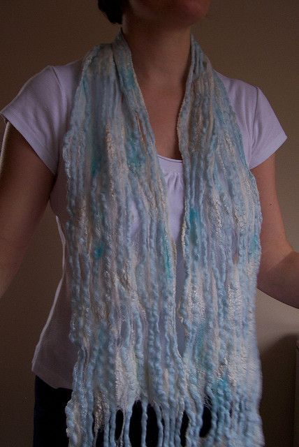 Waterfall, mixed fibres scarf   design by red2white   Monika Lamacka   Flickr