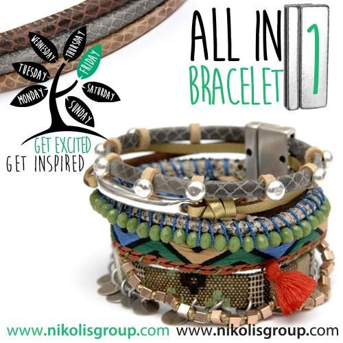 all in 1 multi rang bracelet! find all the materials @www.nikolisgroup.com