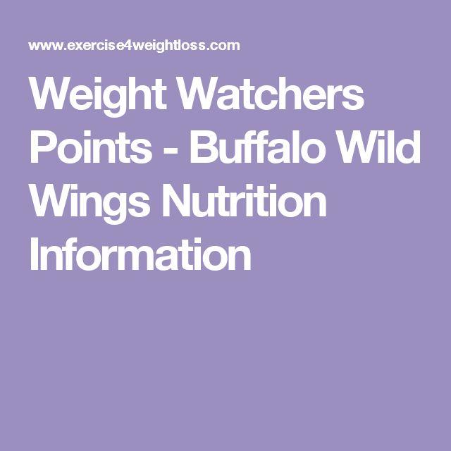 Weight Watchers Points - Buffalo Wild Wings Nutrition Information