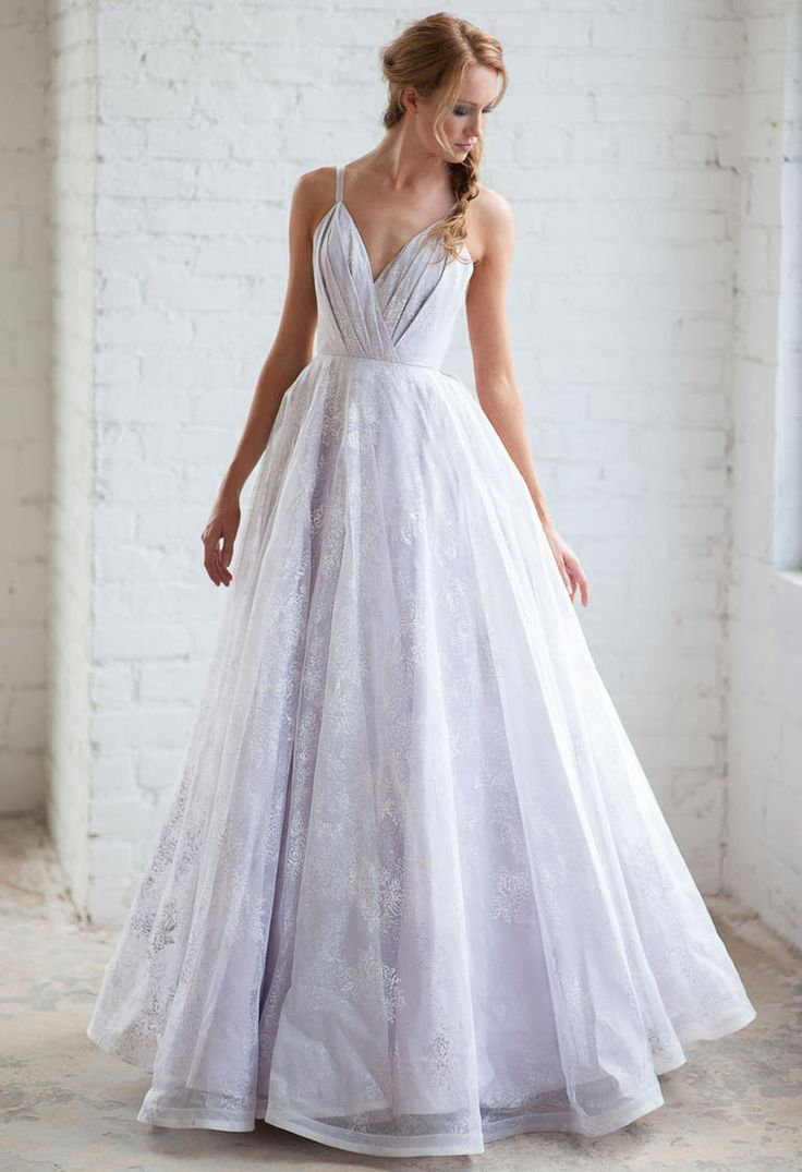 Best 25 lavender wedding dress ideas on pinterest lavender tara latour fall 2016 purple embroidered lace overlay a line wedding dress https ombrellifo Gallery