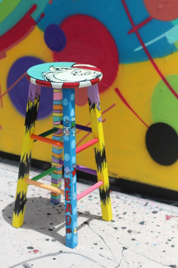 Classroom Furniture Dr. Seuss Custom Stool
