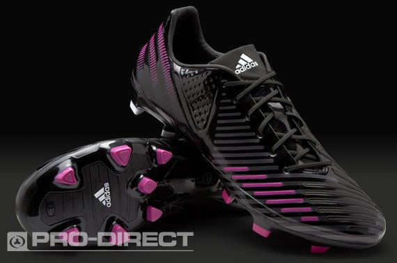 adidas Football Boots - adidas Predator LZ TRX FG SL - Firm Ground - Soccer Cleats - Black-Vivid Pink-Neo Iron Metallic