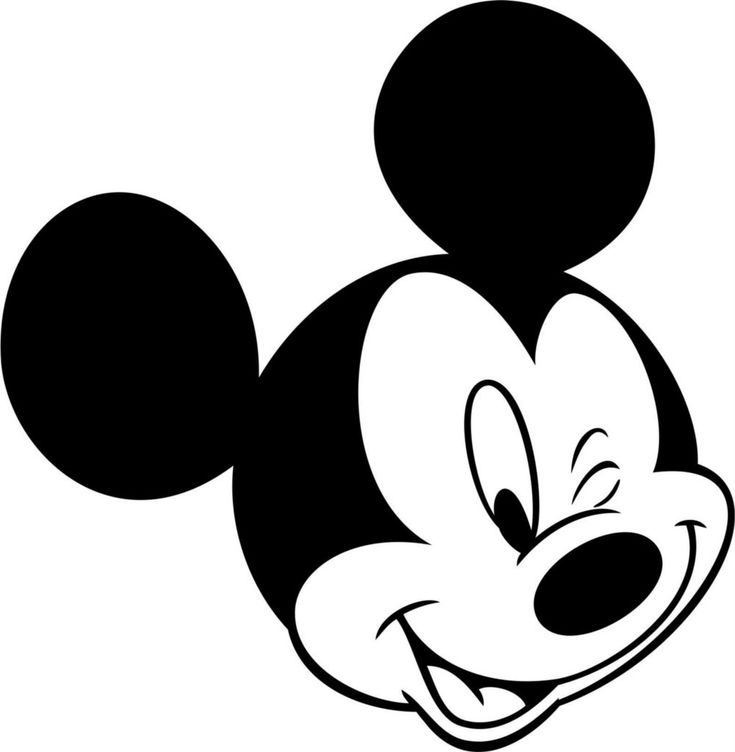 Mickey Mouse Face Coloring Pages Pages Mickey Mouse