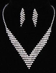 Sieraden Kettingen / Oorbellen Ketting / Oorbellen Modieus Bruiloft 1 Set Dames Zilver Giften van het Huwelijk