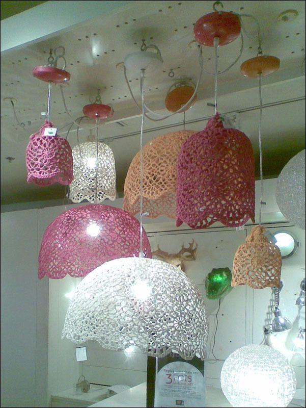 doily lamp-great for girls room, reading nook, bedroom light....