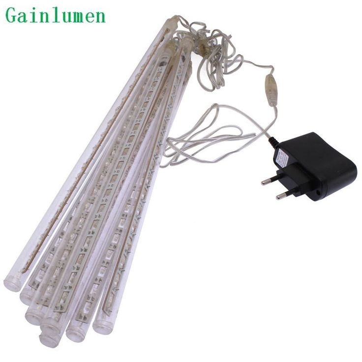 ==> [Free Shipping] Buy Best High Quality 30cm LED Christmas Lights Outdoor LED Meteor Rain Light For Wedding Decoration 144leds 8 Tubes 85-220V EU&US Plug Online with LOWEST Price | 32766035027