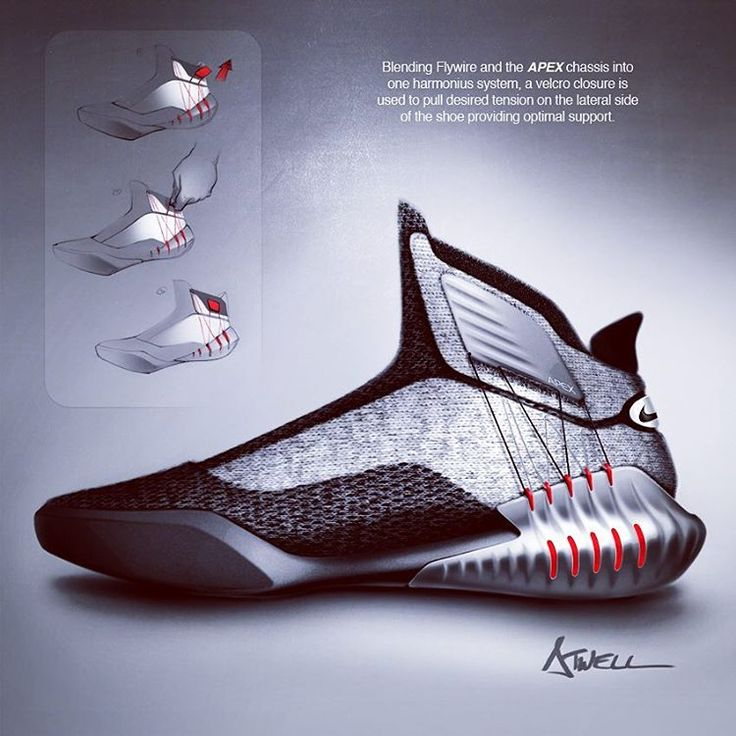 Contemporary B-Ball high top. Targeted for large centers, featuring  Flyknit, a