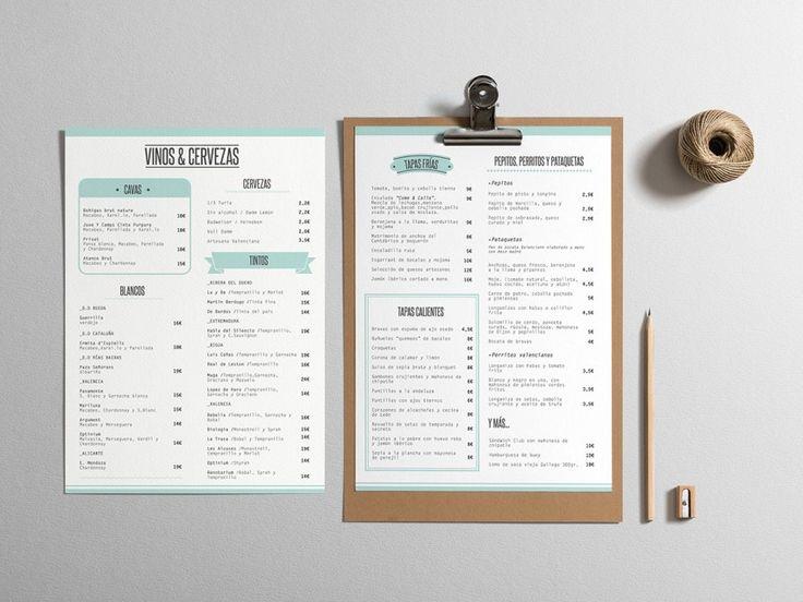 Cartas para el restaurante Come&Calla de Valencia. #menu #restaurant  By Coper & Porter