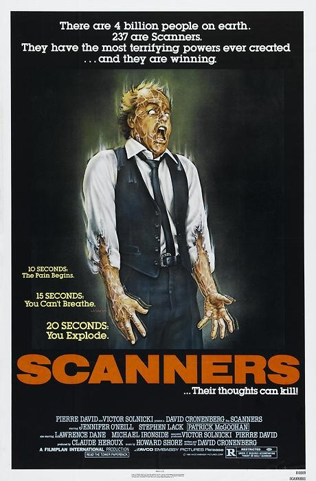 SCANNERS - David Cronenberg watch people fake shake their heads, till it explodes. Fun.