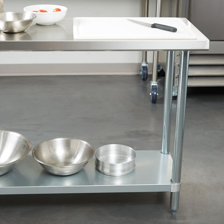 """Regency 18"""" x 60"""" 18-Gauge 304 Stainless Steel Commercial Work Table with Galvanized Legs and Undershelf"""