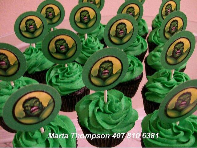 Hulk Cupcakes Cool Party Theme Ideas Pinterest Hulk