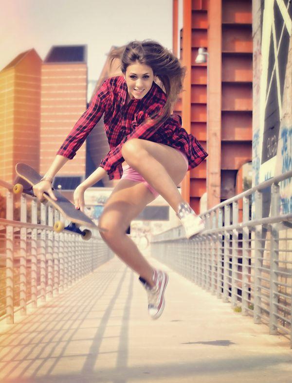converse + skater girl