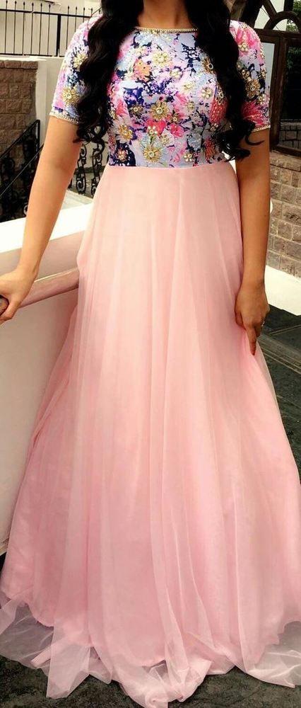 FatimaBi Plus size Fashion Designer Salwar Kameez Pink Bollywood Anarkali Suit #FatimaBi #AnarkaliKameez