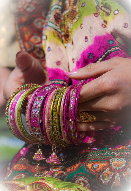 Indian Bangles by blacksapphire, via Flickr