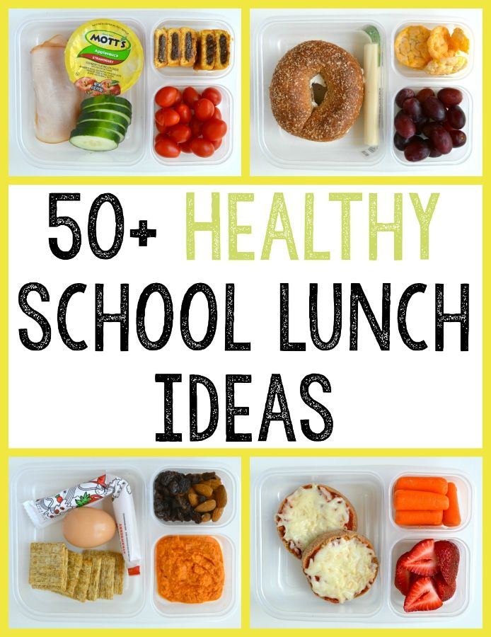 List of healthy ideas for back-to-school lunches!