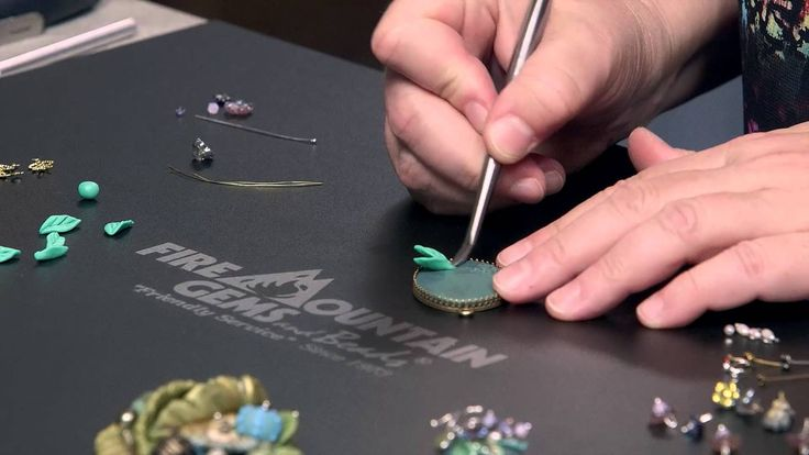 http://www.firemountaingems.com/jewelry-making-instructions.asp Jewelry-making designer-artist Christi Friesen shows you how to turn a bezel setting, some po...