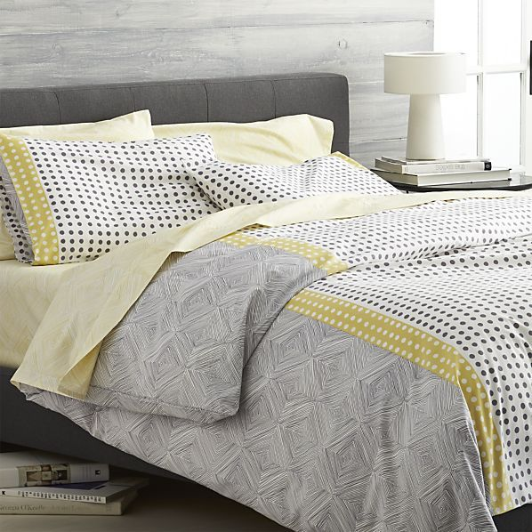 Torben Yellow Duvet Covers and Pillow Shams | Crate and Barrel