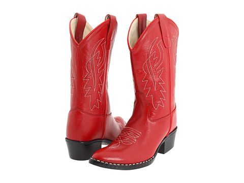 Old West Kids Boots J Toe Western Boot (Toddler/Little Kid) Red - Zappos.com Free Shipping BOTH Ways
