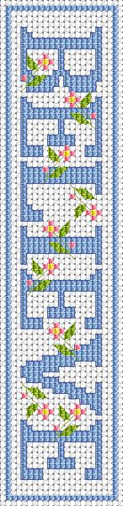 BELIEVE Bookmark free cross stitch pattern