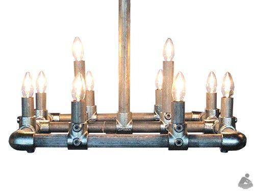 Industriële Steigerbuis Hanglamp Up - Van Abbevé Hout en Interieur is de unieke producent van deze industriële steigerbuis hanglampen, in diversen afmetingen en kleuren te verkrijgen. Een echte blikvanger voor boven de eettafel,vergadertafel,of kantine