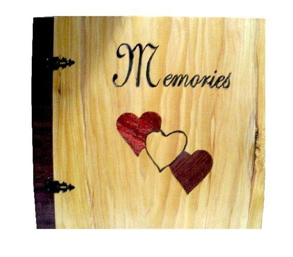 Scrapbook Wedding Album  Wood Album  Inlay by BillsWoodenPleasures, $109.50