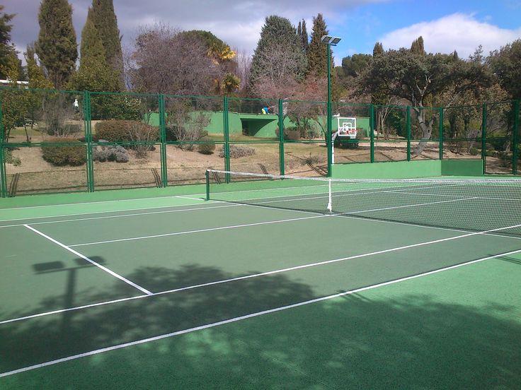 Construcción de pistas de tenis  AQUATIC® construye la primera pista de tenis en 1970  http://aquaticproyect.com/productos/tenis/