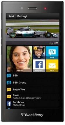 Gambar BlackBerry Z3 Jakarta bagian depan