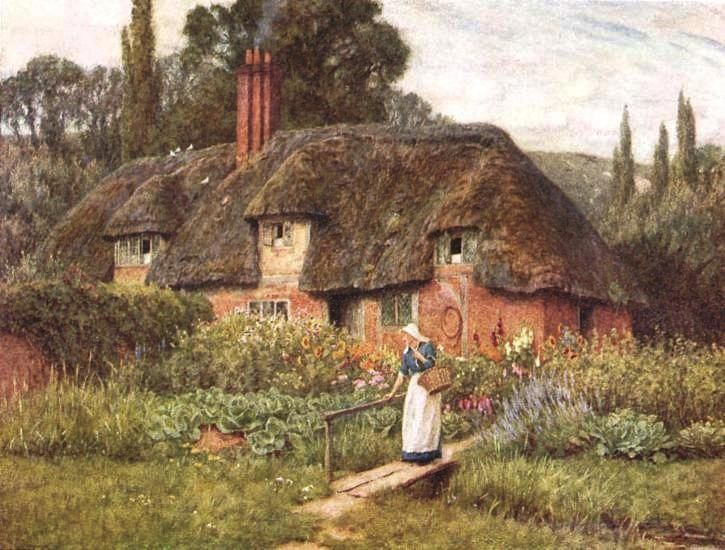 Old Farm Near Donton Helen Allingham English 1848 1926 Cottages UkEnglish CottagesCountry