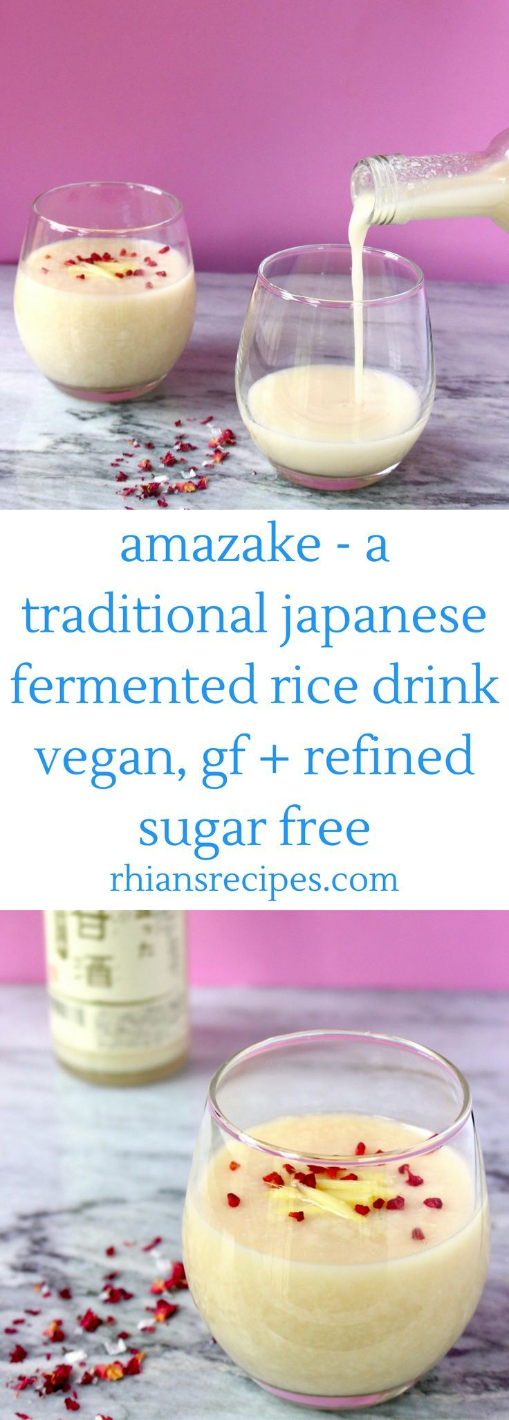 Amazake is a traditional Japanese fermented rice drink. It's vegan, gluten-free, naturally sweet, super healthy and so delicious!