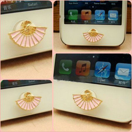 Pink Fan Home Button for Apple Product