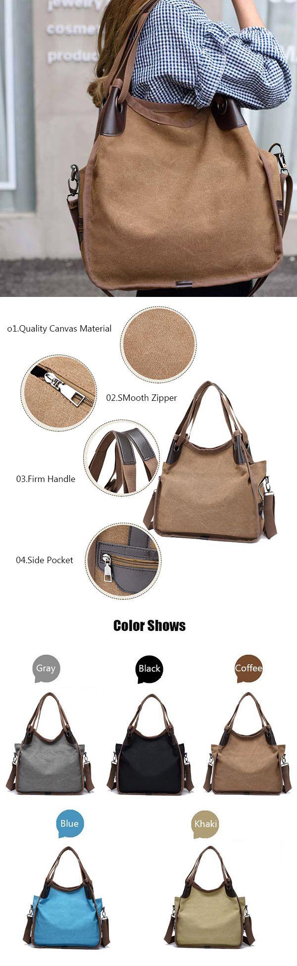 Women Canvas Handbag /Shoulder Bag: Large Capacity /Casual