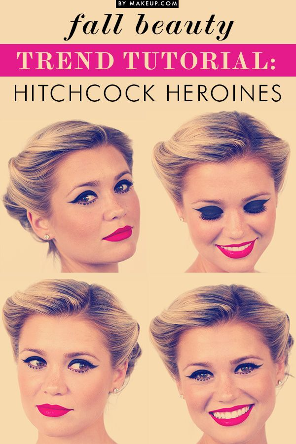 Get the glamour of a starlet with victory rolls, red lips and a fierce cat eye with this tutorial.
