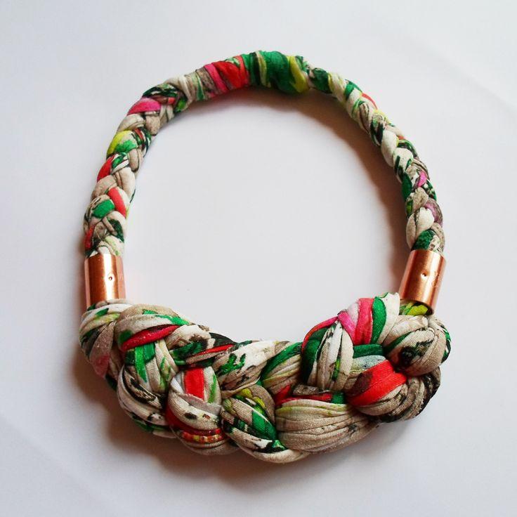 Perfect summer necklace, accessorie, brass, organic cotton https://www.facebook.com/Eszterlanc.kiegeszitok?ref=hl