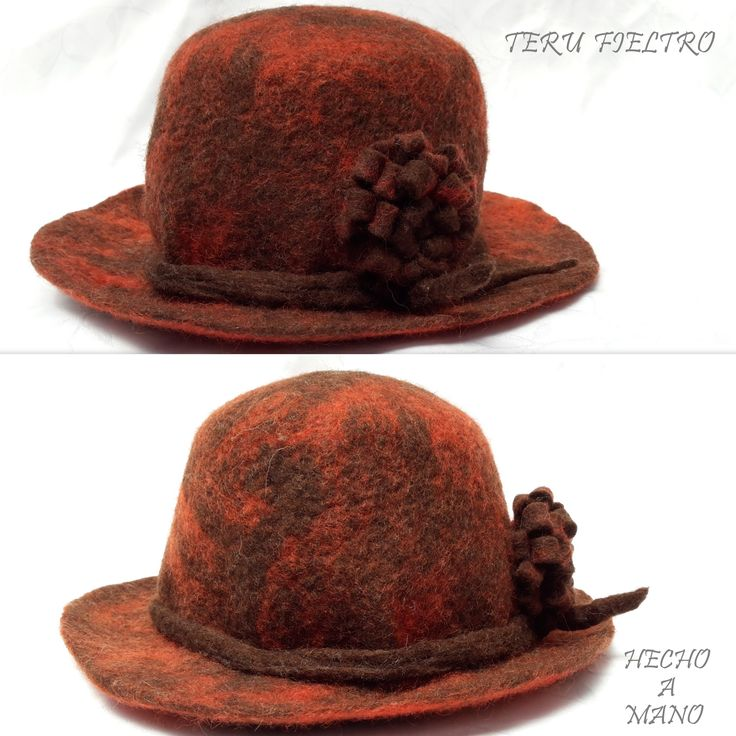 Sombrero de Fieltro Hecho a Mano
