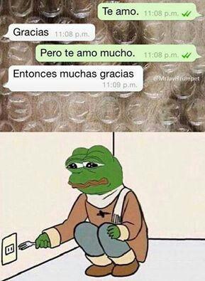 -I Love you. -Thank you. - I mean, I really love you. - Oh, then I really thank you!  Friendzone... I hate you!  Yo y mis traducciones! Hahhahaha