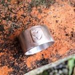 ring silver heart