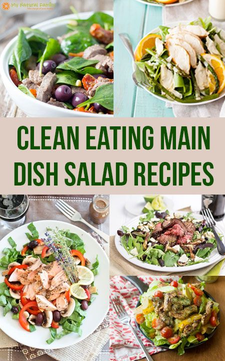 Clean Eating Main Dish Salads Recipes
